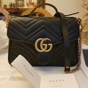 Gucci GG Marmont Small Top Handle Bag.